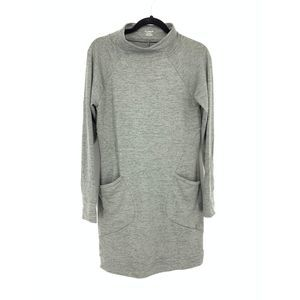 Toad&Co Size S Long Sleeve Mock Neck Gray Dress